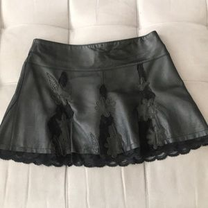 BEBE 100% Genuine Leather mini skirt